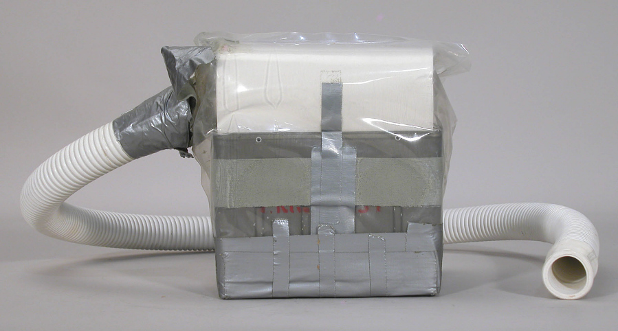 Lithium Hydroxide Canister, Mock-up, Apollo 13 Emergency