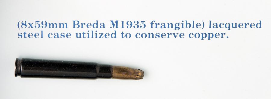 Cartridge, Frangible, 8 x 59mm, Breda M1935