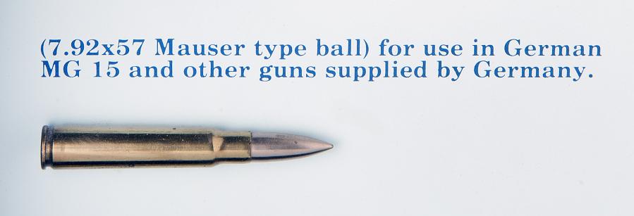 Cartridge, Ball, 7.92 x 57mm, Mauser-type, Italian
