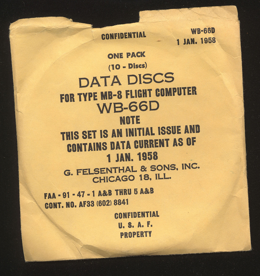 Sleeve, Computer, Aircraft Performance, Felsenthal, WB-66D