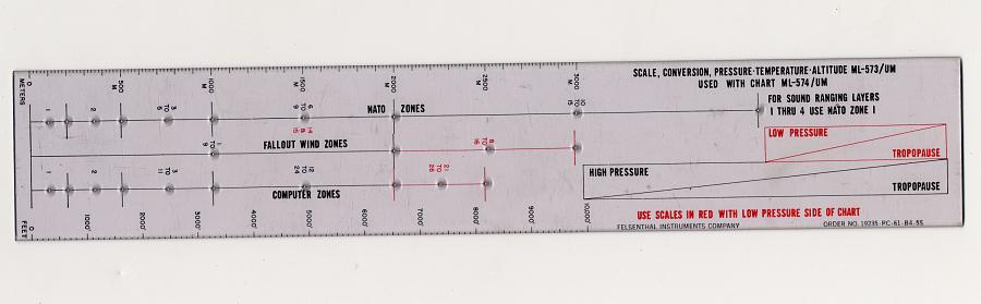 Plotter, Scale, Pressure-Temperature-Altitude, Felsenthal