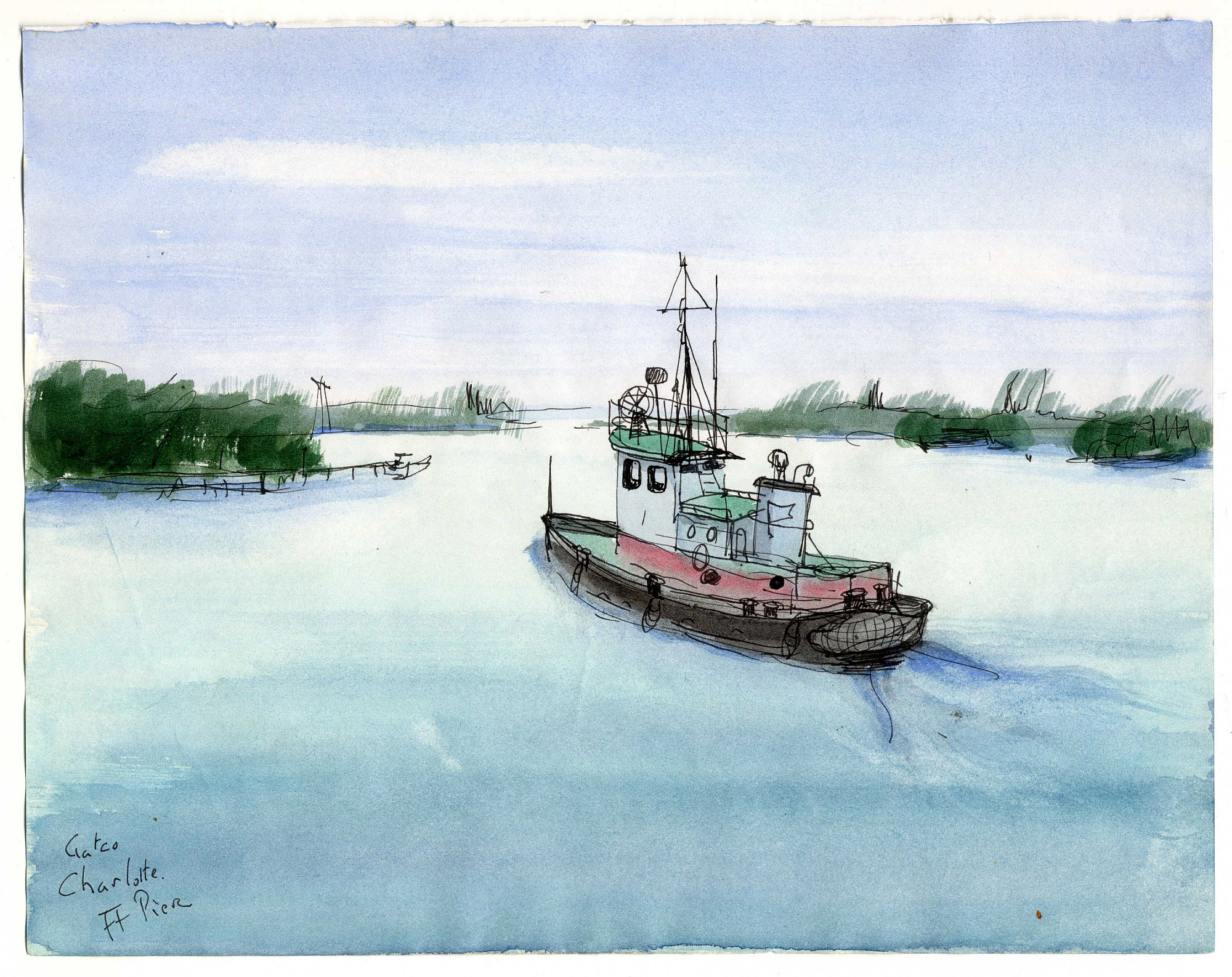 images for Tugboat at Fort Pierce