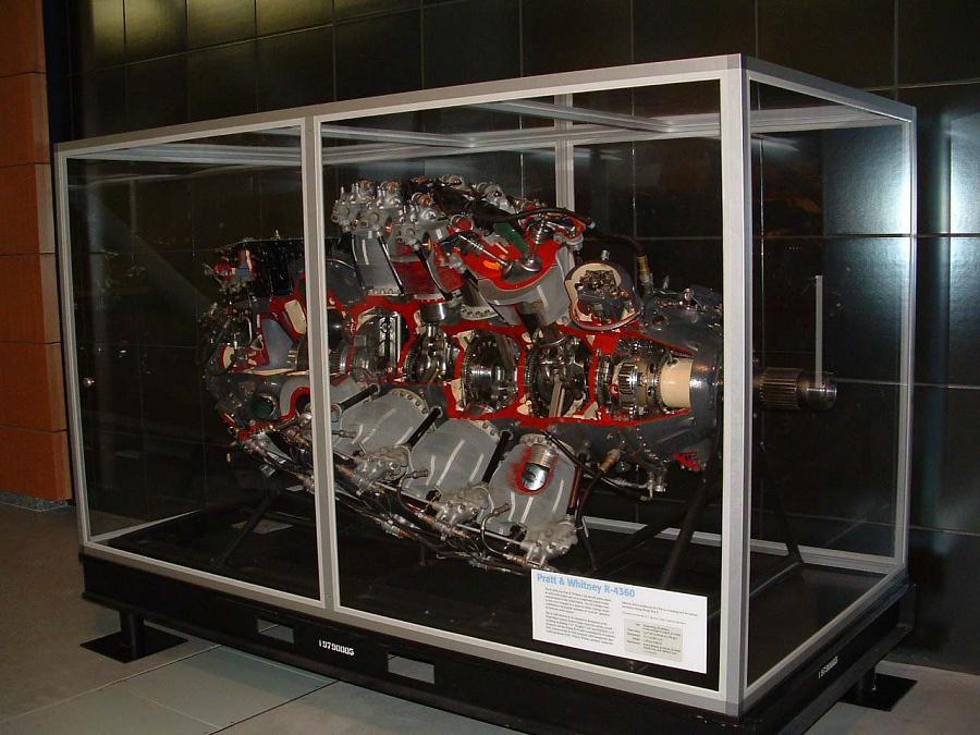 Pratt & Whitney Wasp Major R-4360-59B, Cutaway, Radial Engine