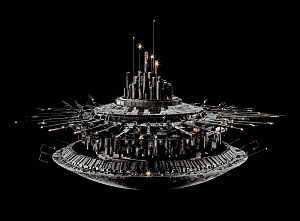 """images for Model, Spacecraft, Mother Ship, Movie, """"Close Encounters Of The Third Kind""""-thumbnail 1"""