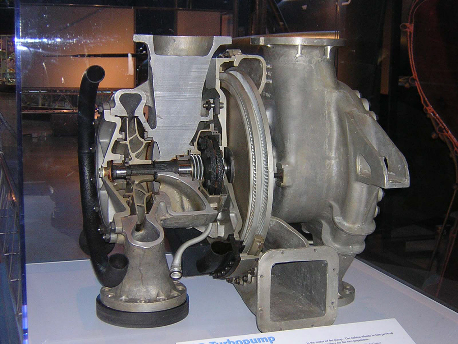 V-2 Rocket Engine Turbopump cutaway