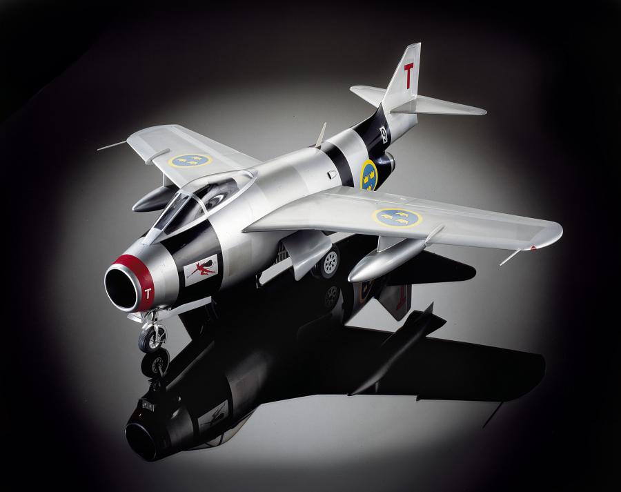 Model, Static, Saab J 29F