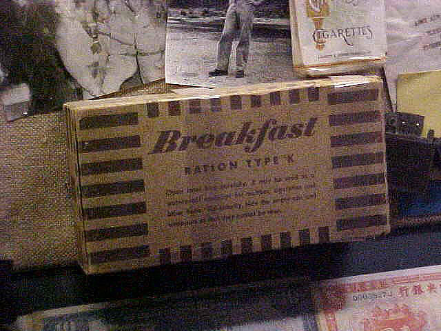 Rations, Breakfast, Type K, United States Army