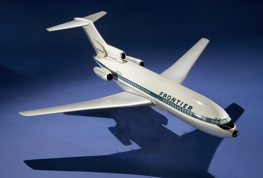 Model, Static, Boeing 727-100, Frontier Airlines