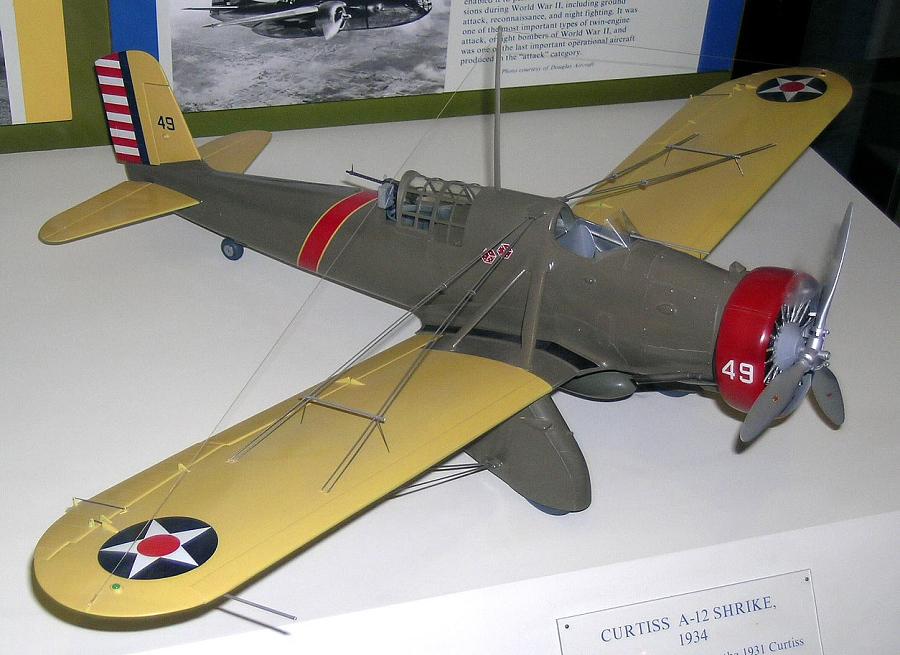 Model, Static, Curtiss A-12 Shrike