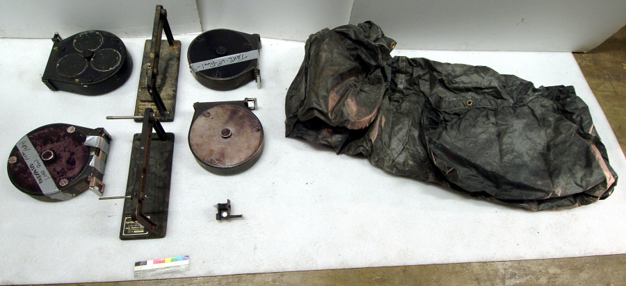 Camera, Satellite Tracking, Baker-Nunn, Film Canisters, Changing Bag