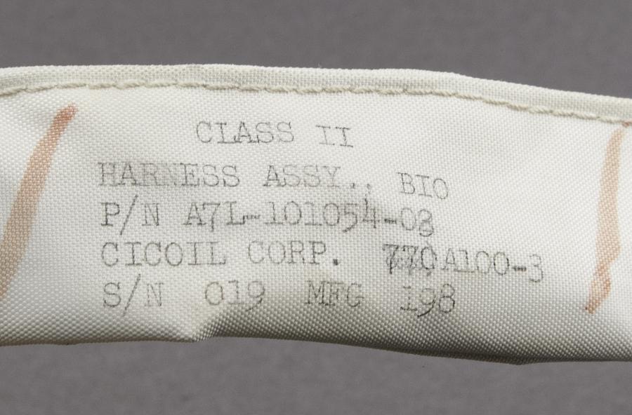 Assembly, Bio-Harness, Schirra, Apollo 7