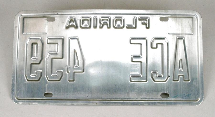 License Plate, Florida, Challenger