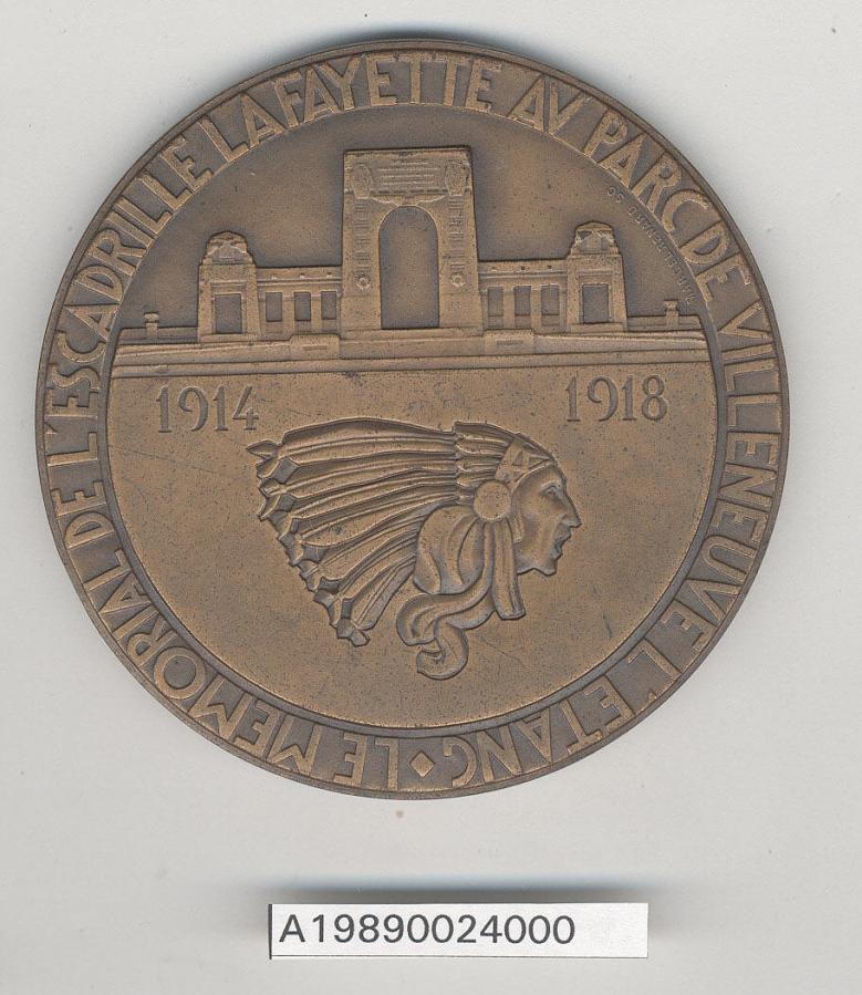 Medal, Commemorative, Lafayette Escadrille