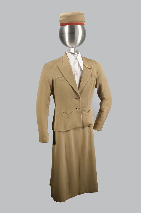 Skirt, Flight Attendant, Continental Airlines, ca. 1941