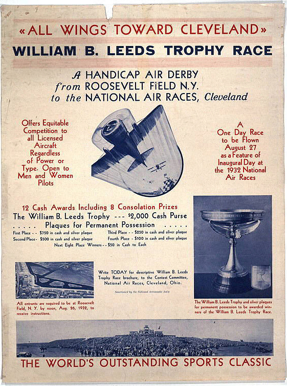 All Wings Toward Cleveland William B. Leeds Trophy Race