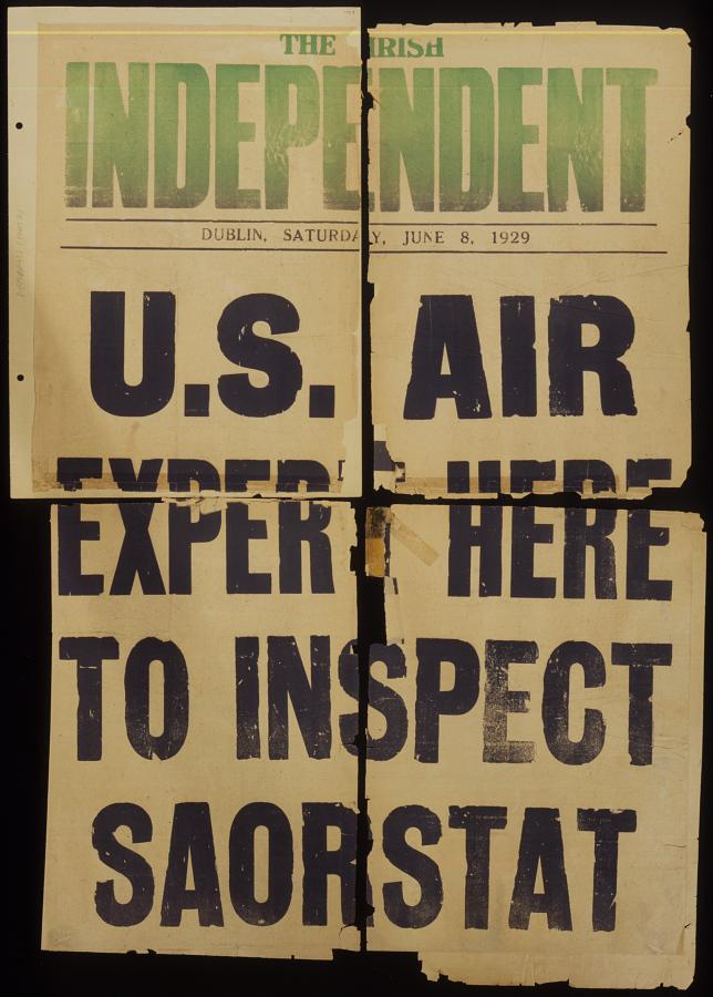U.S. Air Expert Here to Inspect Saorstat