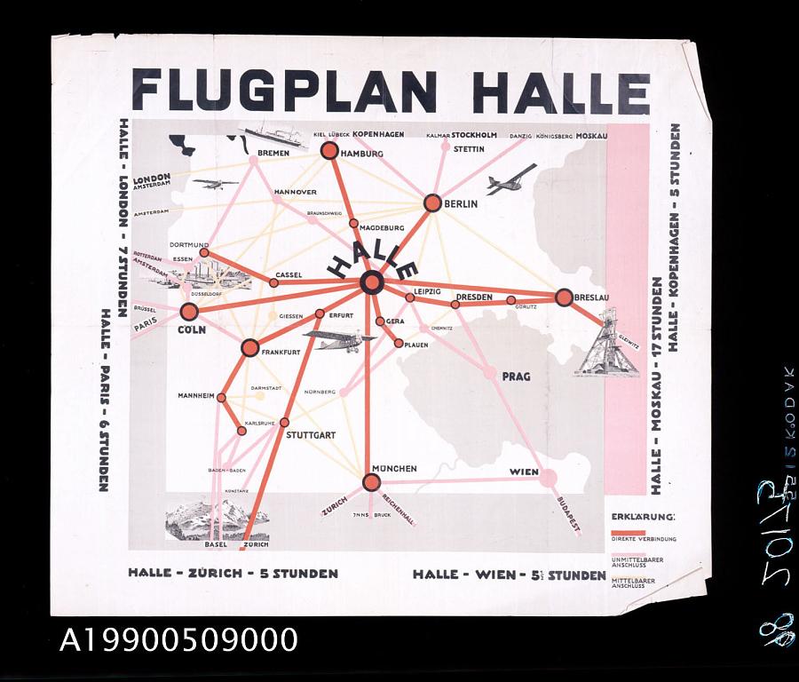 Flugplan Halle