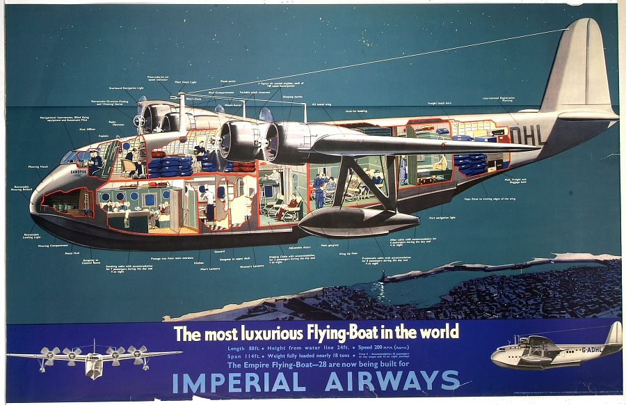 Imperial Airways The Most Luxurious Flying Boat in the World