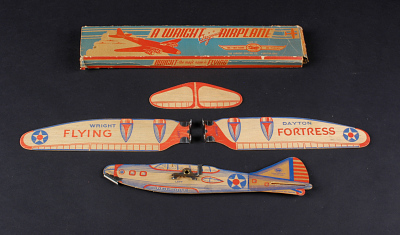 Model Kit, Flying, Free Flight Glider, Wright-Dayton Flying-Fortress, w/Box