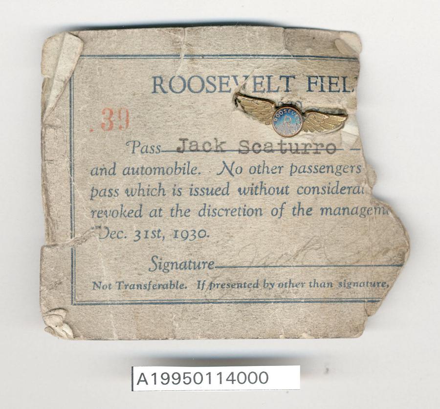Pin, Lapel, Roosevelt Field