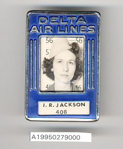 images for Badge, Identification, Flight Attendant, Delta Airlines-thumbnail 2