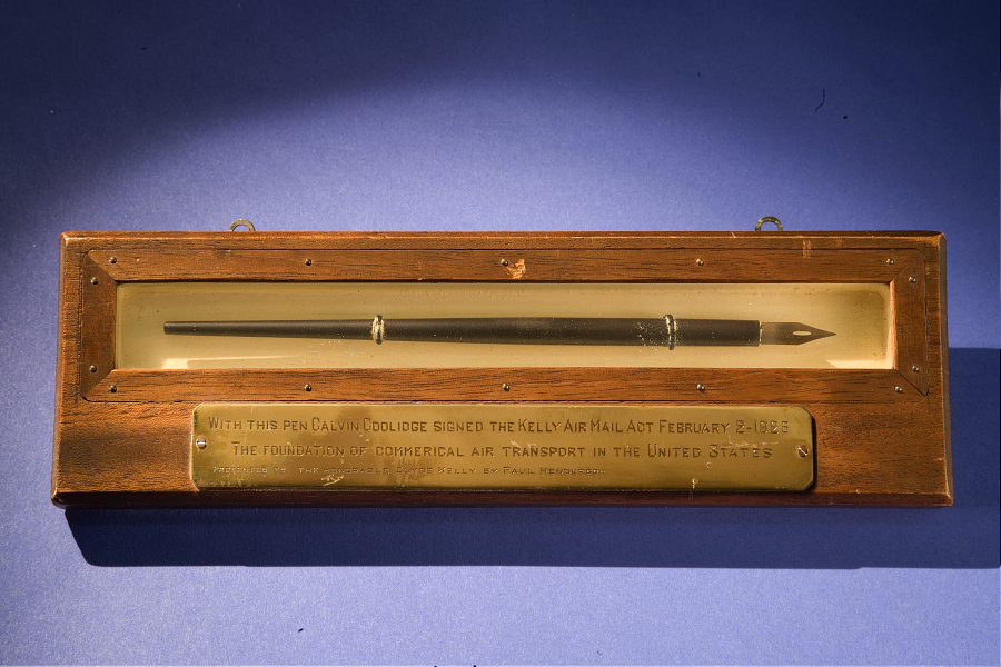 Pen, Kelly Air Mail Act, President Calvin Coolidge