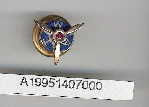 Pin, Lapel, Pilot's 25 Year Service, Transcontinental & Western Air Inc. (TWA)