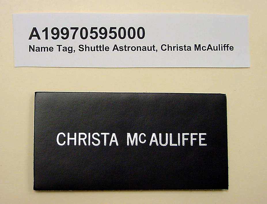 images for Name Tag, Shuttle Astronaut (McAuliffe)