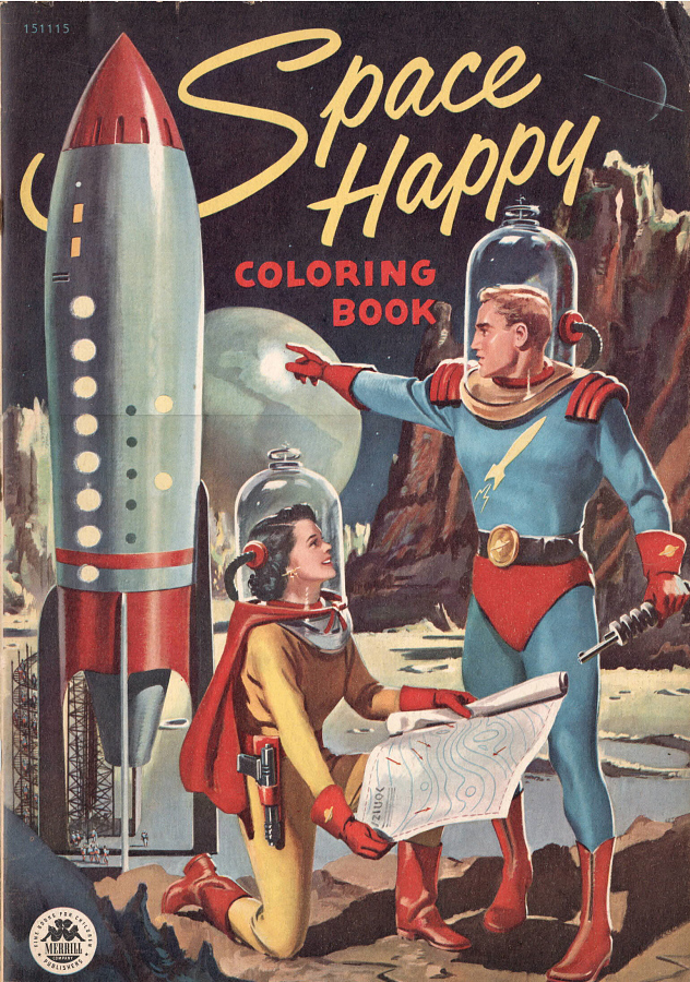Book, Coloring, 'Space Happy'