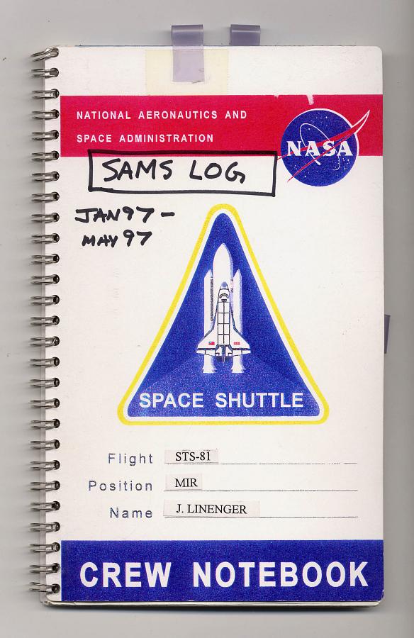 SAMS Crew Logbook, Jerry M. Linenger