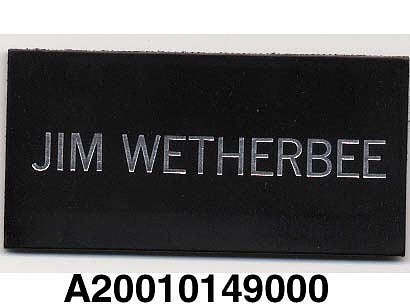 Name Tag, Shuttle Astronaut (Wetherbee)