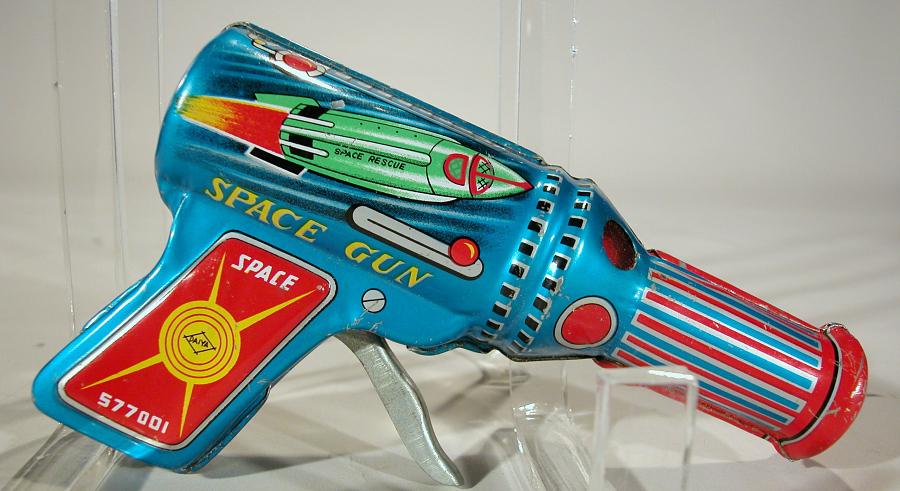 Toy, Tin Toy, Ray Gun, 'Space Gun,' Space 577001