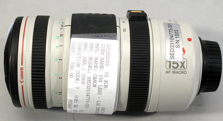 Lens, 15X, Canon Camcorder, Shuttle