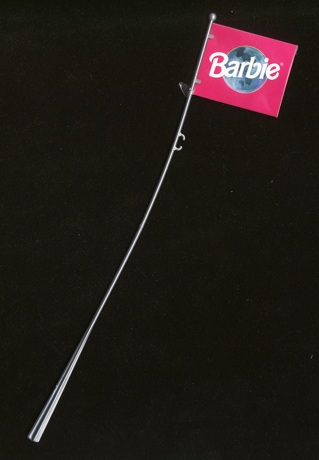 Flag and Pole, Barbie, Astronaut, Toys R Us