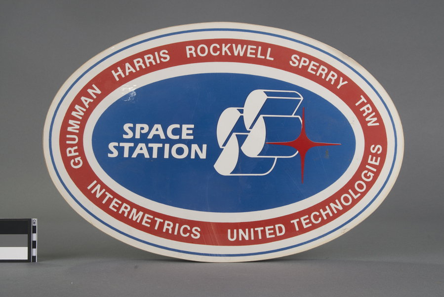 Sign, Space Station Concept, Rockwell group
