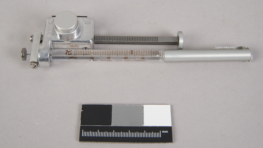 Syringe, Protein Crystal Growth Experiment, Shuttle
