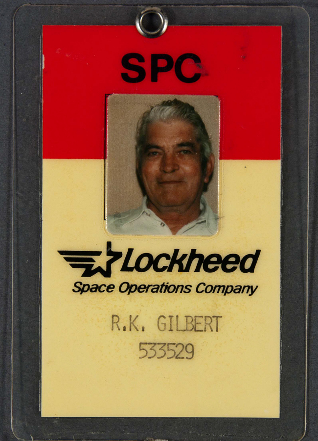 ID Card, Lockheed Space Operations Company, R. K. Gilbert