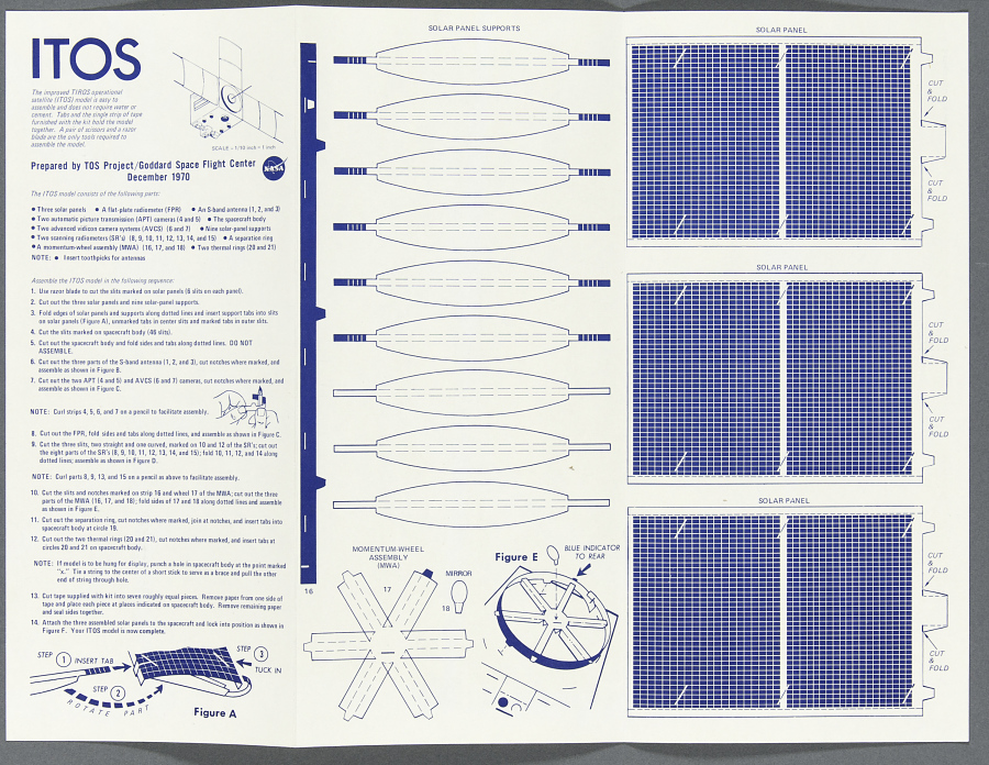 Poster, Improved TIROS Operational Satellite, Cut-out
