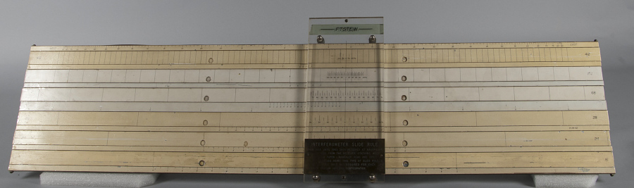 Interferometer Slide Rule, U.S. Navy Space Surveillance Fence