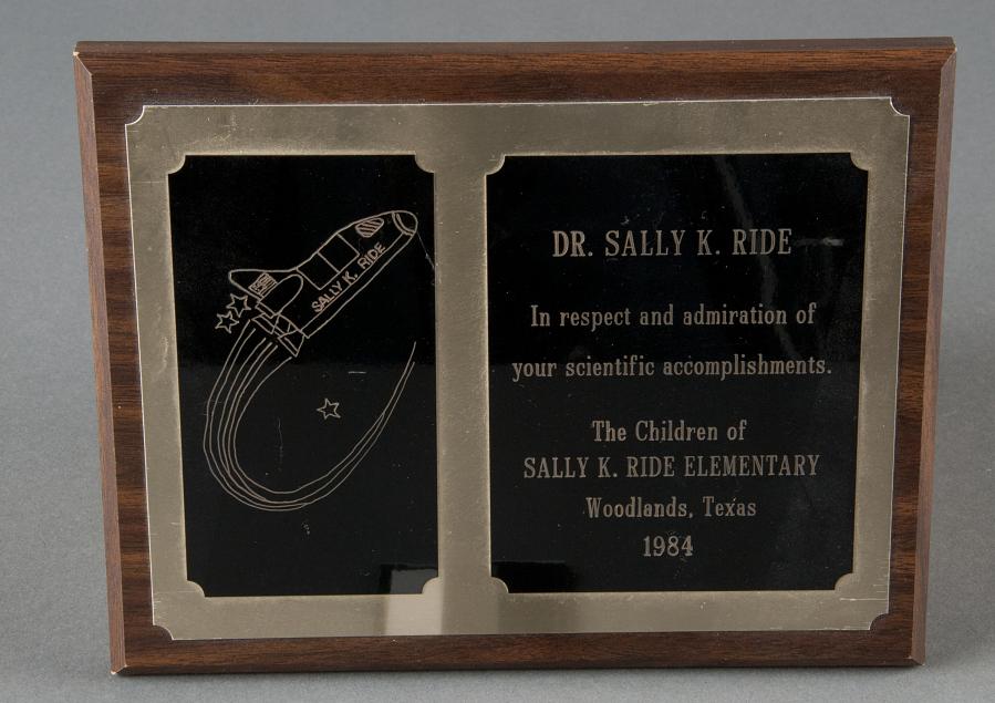 Plaque, Sally K. Ride Elementary School
