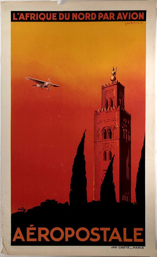 Aeropostale L'Afrique du Nord par Avion