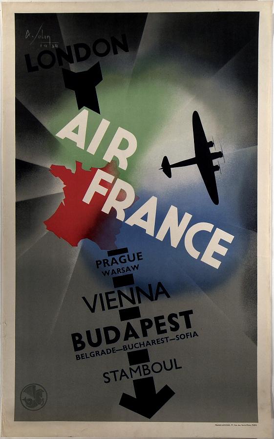 Air France: Prague, Warsaw, Vienna, Budapest, Stamboul