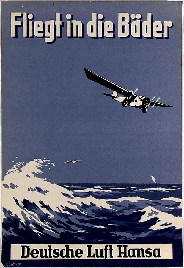 Deutsch Luft Hansa Fliegt in die Bader