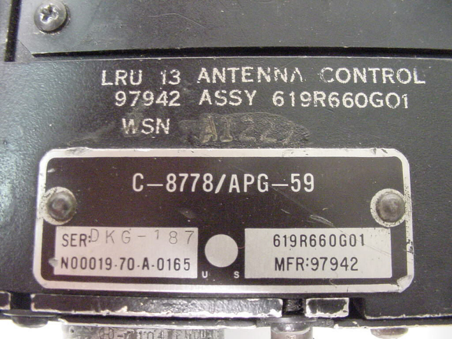 AWG-10 Radar, Antenna Control, Type C-8778/APG-59