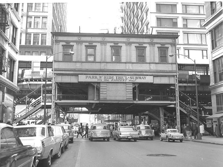 "Madison & Wabash ""L"" station, Chicago, 1965"