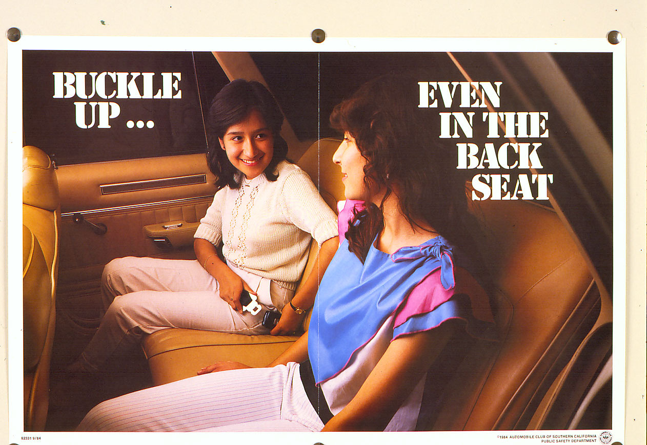 Seat-belt poster, 1984