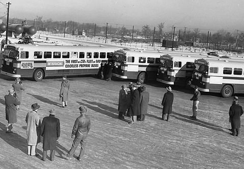 The First of CTA's Fleet of 500 Odorless Propane Buses.