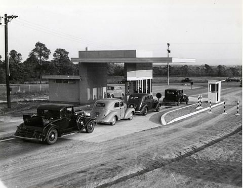 Opening day on the Pennsylvania Turnpike, October 1, 1940