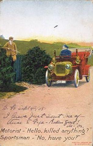 Satirical Postcard, 1908