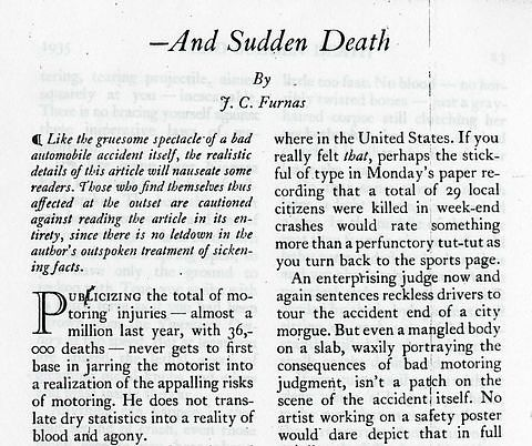 Reader's Digest article, 1935